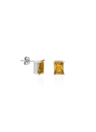Aykat Renk Değiştiren Küpe Zultanit Taşlı Gümüş Bayan Küpesi Kupe-278 Sarı